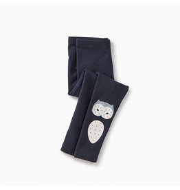 Tea Collection Wise Owl Cozy Leggings - Indigo