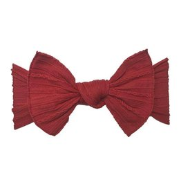 Baby Bling Bows Cable Knit Knot - Cherry
