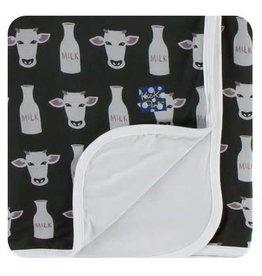 Kickee Pants Print Stroller Blanket - Zebra Tuscan Cow