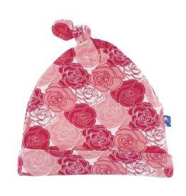 Kickee Pants Kickee Pants Knot Hat: Roses 3-12 Months
