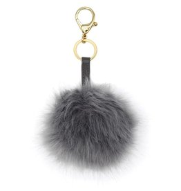 Itzy Ritzy Pouf Key Charm  Gray