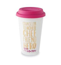 Mud Pie Mom Words Travel Mug