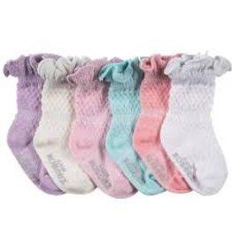 Robeez 6pk Socks - Sparkle Multi - Assorted Pastels 2-4y