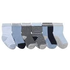 Robeez 6pk Socks - Benjamin Blue 2-4y