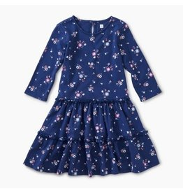 Tea Collection Tiered Winter Dress - Winter Blooms 4