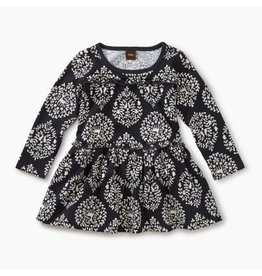 Tea Collection Patterned Tiered Dress - Wildlife Damask 3-6M