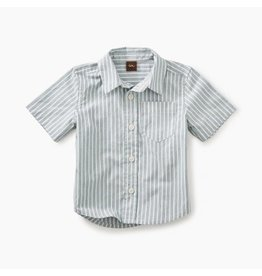 Tea Collection Striped Short Sleeve Button Baby Shirt 12-18M