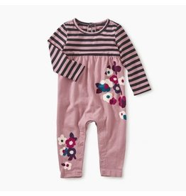 Tea Collection Floral Two-Tone Romper - Roseblush 18-24M