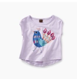 Tea Collection Peacock Graphic Baby Tee - Wild Lavender  3-6