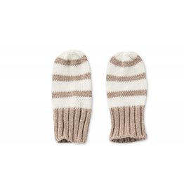 Angel Dear Stripe Mittens Oatmeal