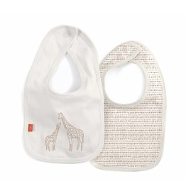 Magnetic Me Jolie Giraffe Magnetic Reversible Bib Cream