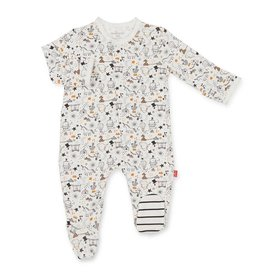 Magnetic Me Cirque Bebe Modal Magnetic Footie White/Black