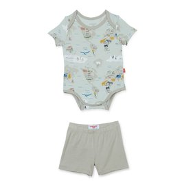 Magnetic Me Sea The World Modal Magnetic Onesie + Short
