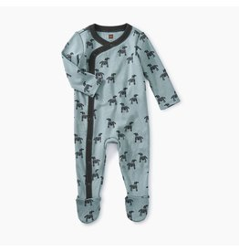 Tea Collection Footed Romper - Woodblock Horses