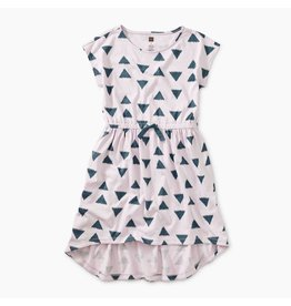 Tea Collection Printed Hi-Lo Tie Waist Dress - Ikat Triangles