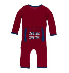 Kickee Pants Applique Coverall with Snaps Union Jack 6-9M