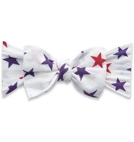 Baby Bling Bows Printed Knot - USA stars