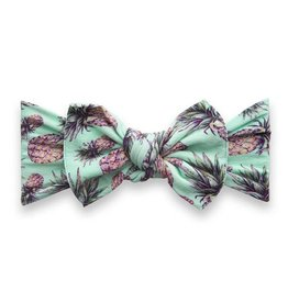 Baby Bling Bows Printed Knot - pineapple paradise