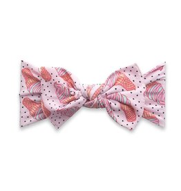 Baby Bling Bows Printed Knot - Ice cream dot