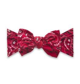 Baby Bling Bows Printed Knot - Cherry Bandana