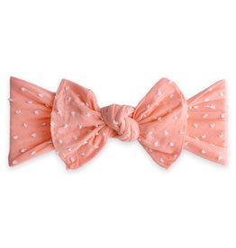Baby Bling Bows Patterned Knot (Coral Shabby Dot)