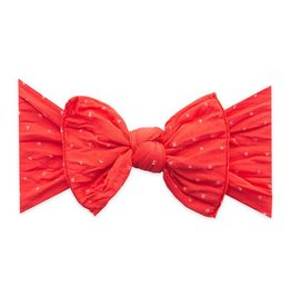 Baby Bling Bows Patterned Knot (Cherry Dot)