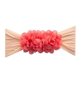 Baby Bling Bows 2-Tone Chiffon Ruffle: Peach/Salmon