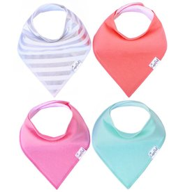 Copper Pearl Bibs - Jewel Set - 4 pack