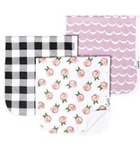 Copper Pearl Burp Cloths (3 pack) - Rosie