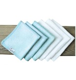 Copper Pearl Wash Cloths - White and Blue