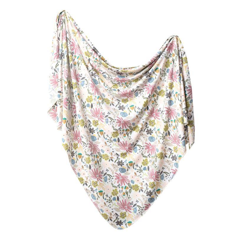 Copper Pearl Knit Blanket - Olive