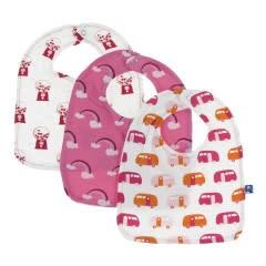 Kickee Pants Bib Single: Flamingo Rainbow