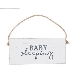 Mud Pie Baby Sleep Door Hanger