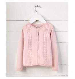 Mud Pie Pink Cable Knit Cardigan