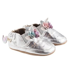 Robeez Uma Unicorn Shoe - Metallic Silver