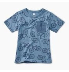Tea Collection Printed Pocket Tee - Pedal Power
