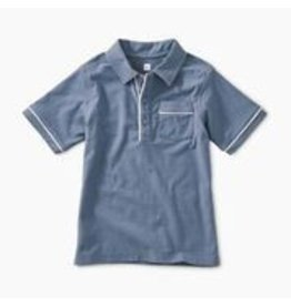 Tea Collection Piped Polo - Cornflower