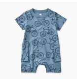 Tea Collection Bicycle Print Romper - Pedal Power
