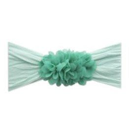 Baby Bling Bows 2-Tone Chiffon Ruffle: Seafoam