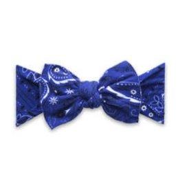 Baby Bling Bows Printed Knot - Navy Bandana