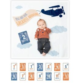 Mary Meyer Baby's First Year blanket/cards-Greatest Adventures
