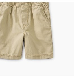 Tea Collection Easy Does It Twill Baby Shorts - Sparrow