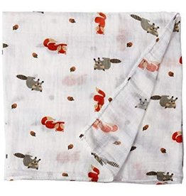 Lulujo LLJ Cotton Blanket - Forest Friends