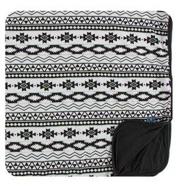 Kickee Pants Print Stroller Blanket Natural Mayan Pattern