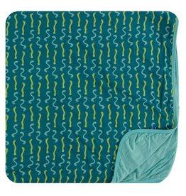 Kickee Pants Print Stroller Blanket Oasis Worms
