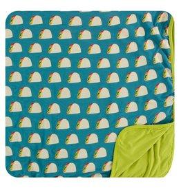 Kickee Pants Print Stroller Blanket Seagrass Tacos