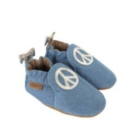 Robeez Peace Out Baby Shoe Soft Sole Moccasin  0-6M