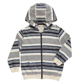 Me + Henry Blue Striped Hooded Top