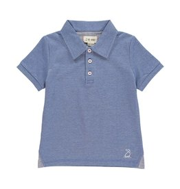 Me + Henry Pique Polo Shirt, Blue