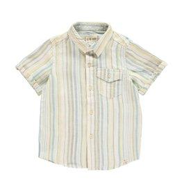 Me + Henry Yellow Striped Woven Linen Shirt